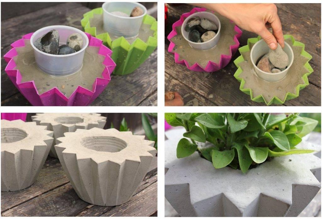 Технология изготовления своими руками красивых кашпо для цветов, советы новичкам