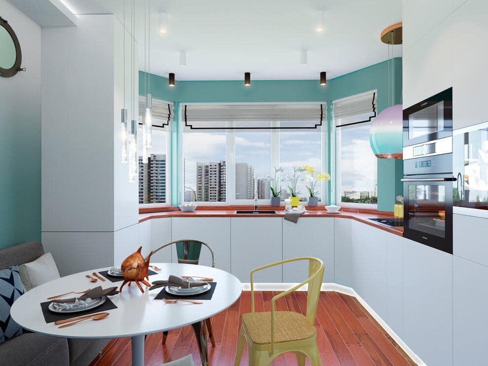 Дизайн кухни с экрером – фото интерьеров