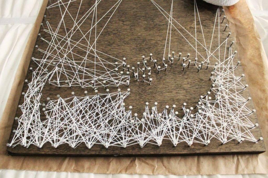 Изготовление картин в технике стринг-арт — хобби, бизнес или настоящее искусство? всю правду расскажет мастер гвоздей и нитей