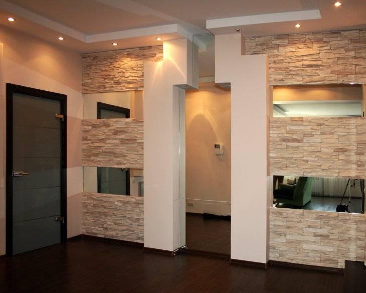 Отделка стен в прихожей (225+ фото): панели/покраска/камень/обои