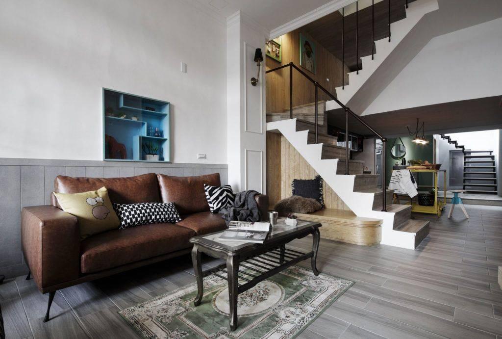 Лестница на второй этаж в гостиной: выбор конструкции