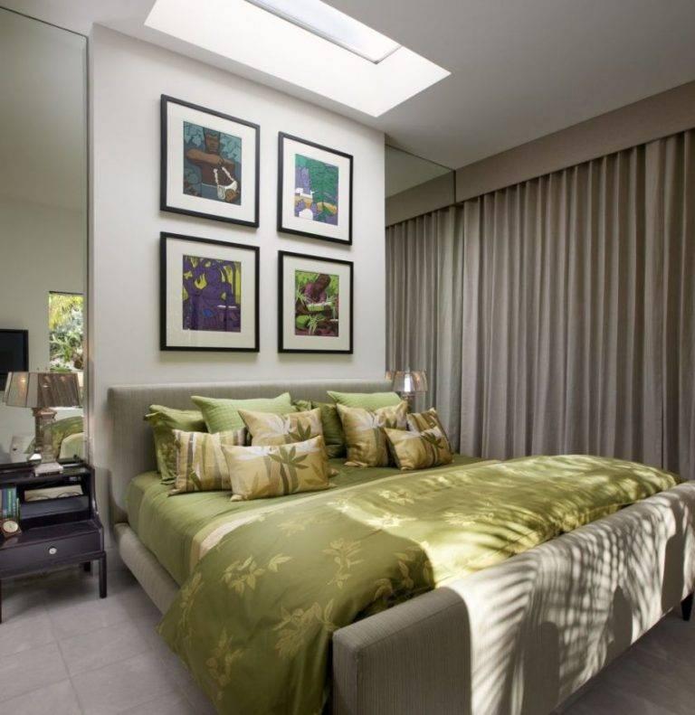 Зеленая спальня (63 фото): дизайн интерьера с сочетанием темно-зеленых тонов, значение цвета
