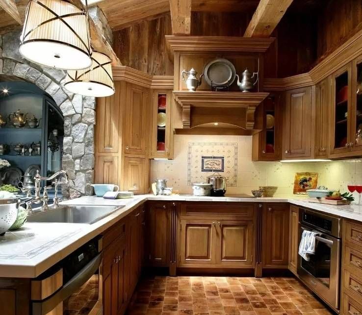 Дизайн кухни в стиле кантри — особенности интерьера +75 фото