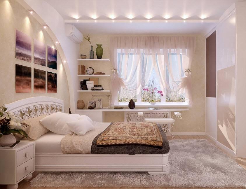 Отделка спальни: новинки дизайна и оформления интерьера, фото красивых примеров + варианты размещения мебели