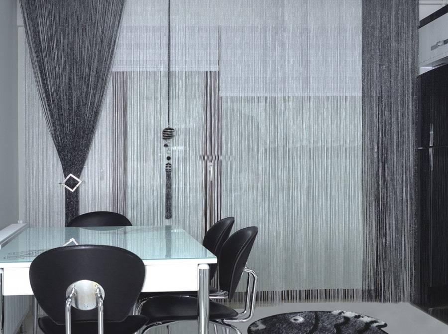 Кисея в интерьере, оформление окна шторами-нитями, варианты декора и прочее + фото кисея в интерьере, оформление окна шторами-нитями, варианты декора и прочее + фото