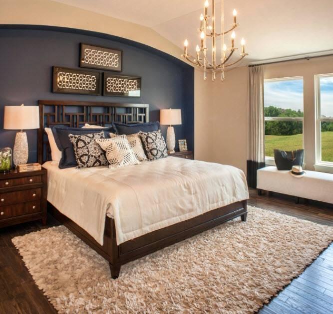 Декор, отделка спальни: как оформить стену в спальне над кроватью панно, как выделить и чем покрыть  - 53 фото