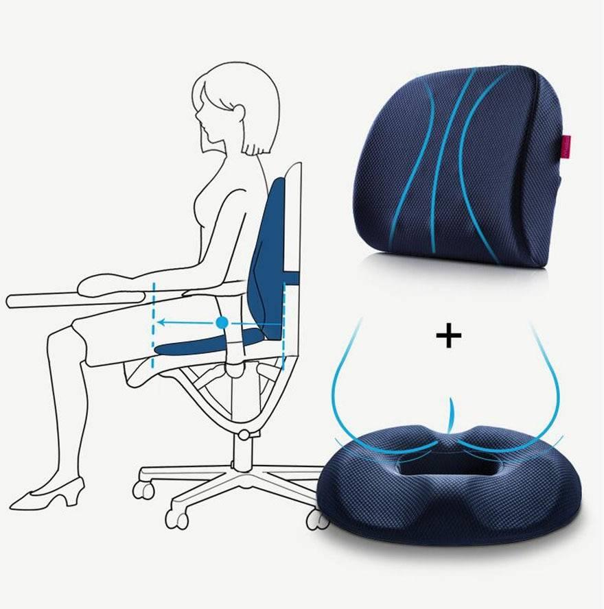Ортопедическая подушка для сидения на стул — как выбрать, виды, плюсы и минусы