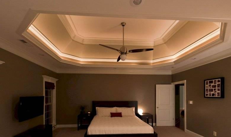 Двухуровневые потолки из гипсокартона для гостиной (49 фото): варианты дизайна двухуровневых потолков с подсветкой в интерьере зала