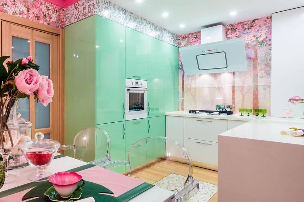 Зеленая кухня в интерьере: 130 самых стильных примеров в реальных фото, лучшие сочетания, советы по дизайну