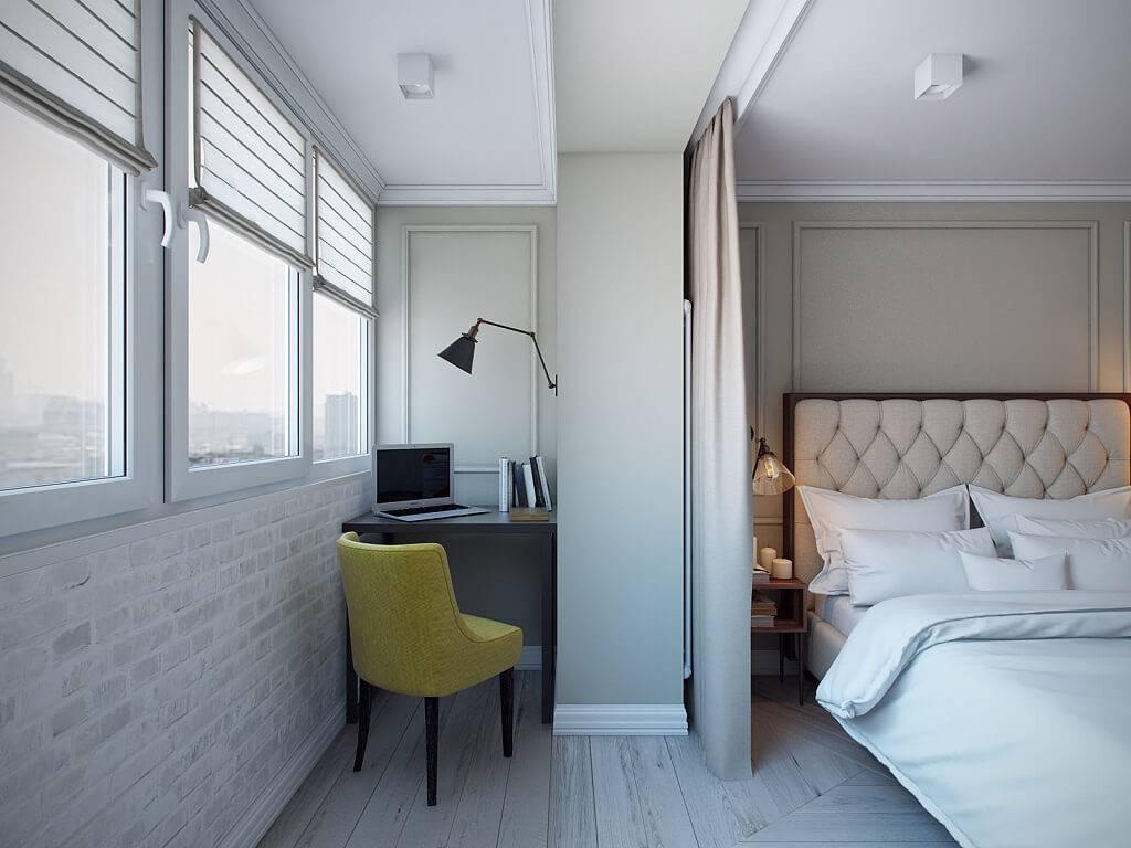 Балкон совмещенный с комнатой: 36 удивительных фото