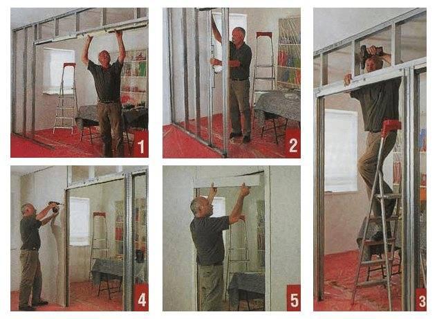 Обшивка стен гипсокартонтом | пошаговая инструкция