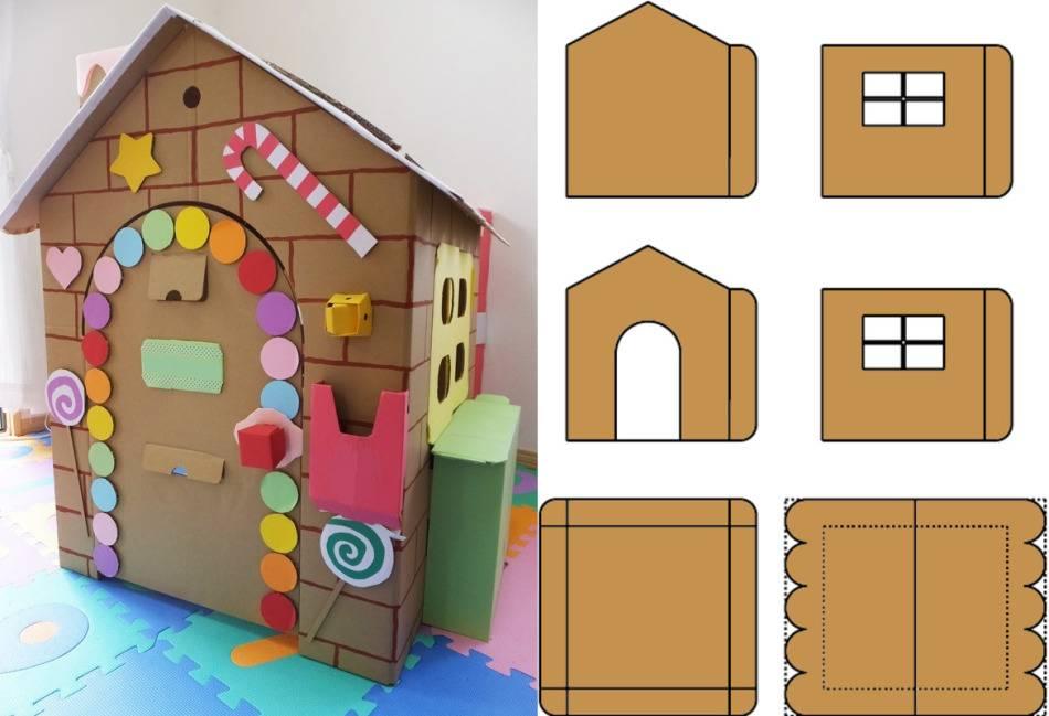 Как сделать кукольный домик из картона
