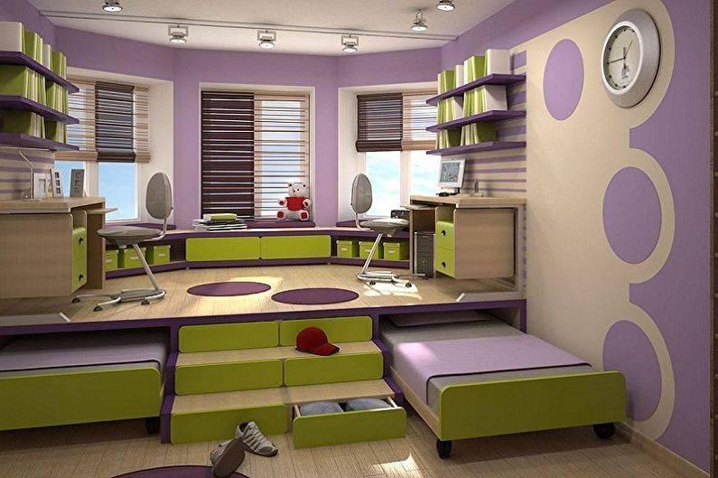 Подиум в квартире, варианты зонирования интерьера комнат, оформление