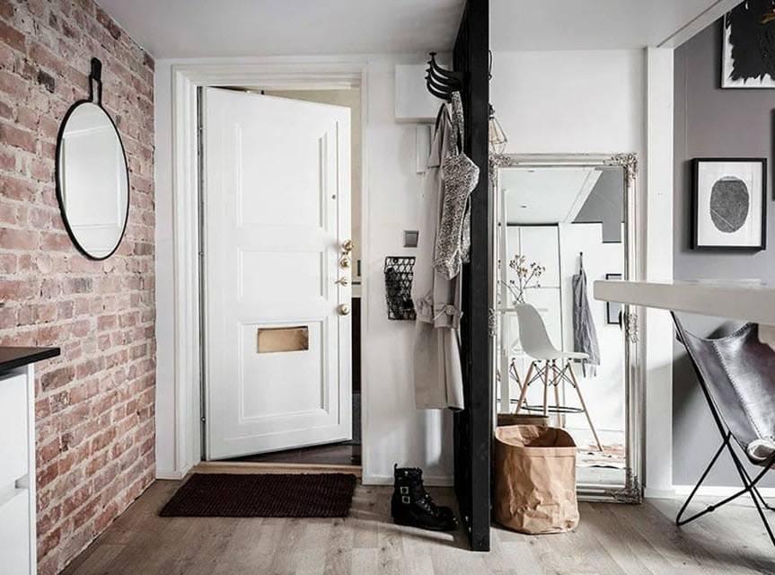 Прихожая в стиле «лофт» (63 фото): дизайн интерьера коридора, мебель и оформление в индустриальном направлении