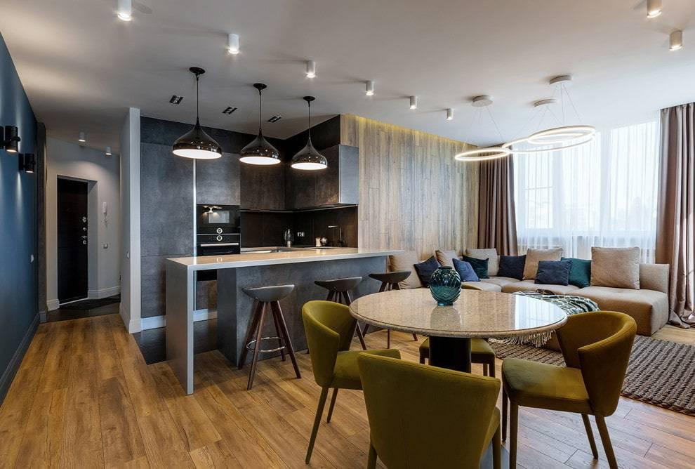 Дизайн столовой-гостиной, принципы оформления интерьера и практичные идеи зонирования - 25 фото