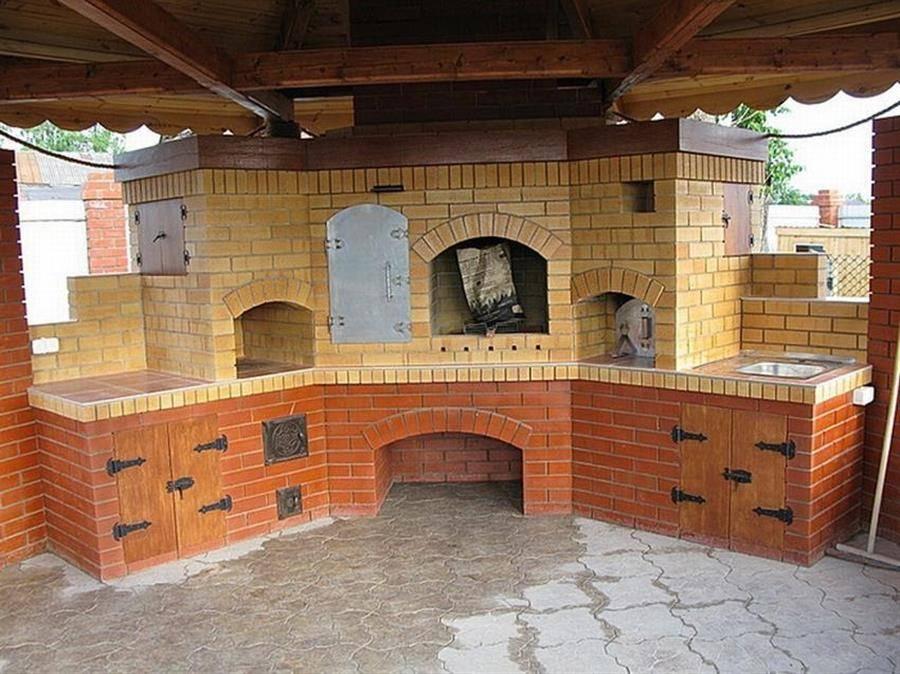 Печи из кирпича в беседке (49 фото): готовые проекты с размерами, печные комплексы и печки-барбекю своими руками