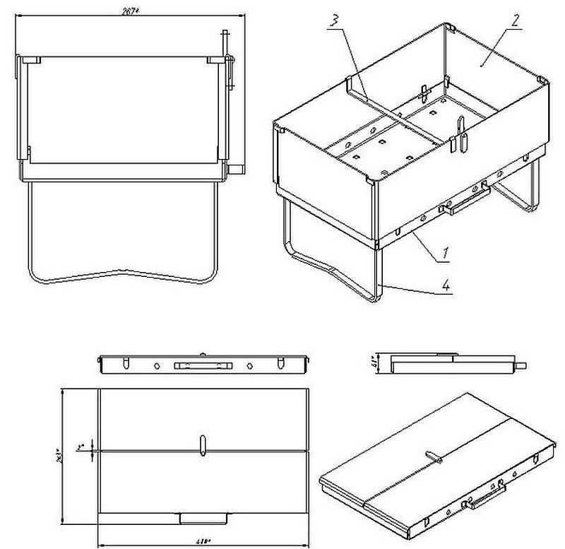 Как сделать мангал своими руками — чертежи, схемы, инструкции и советы мастеров. фото лучших вариантов для дачи