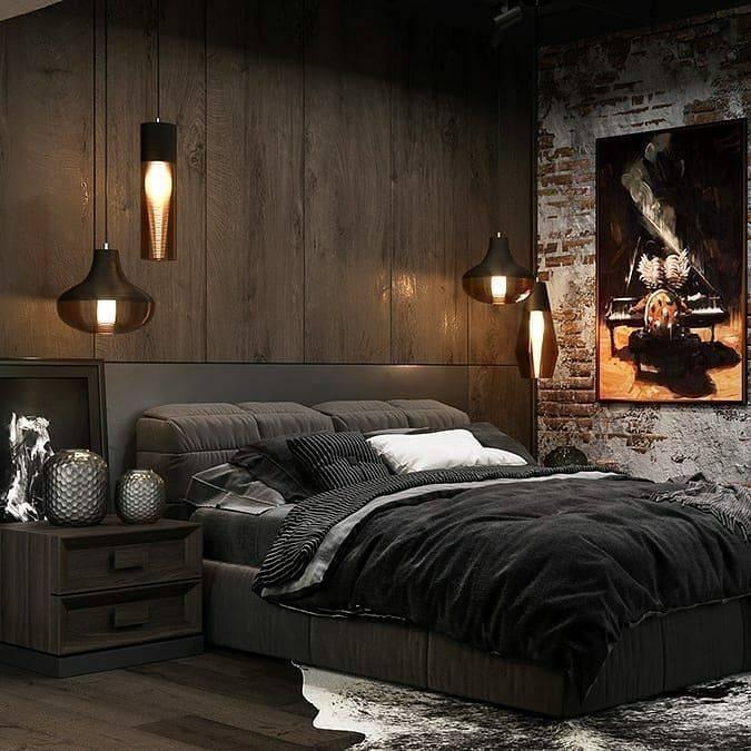 ???? спальня в стиле лофт: отделка комнаты, подбор декора и текстиля
