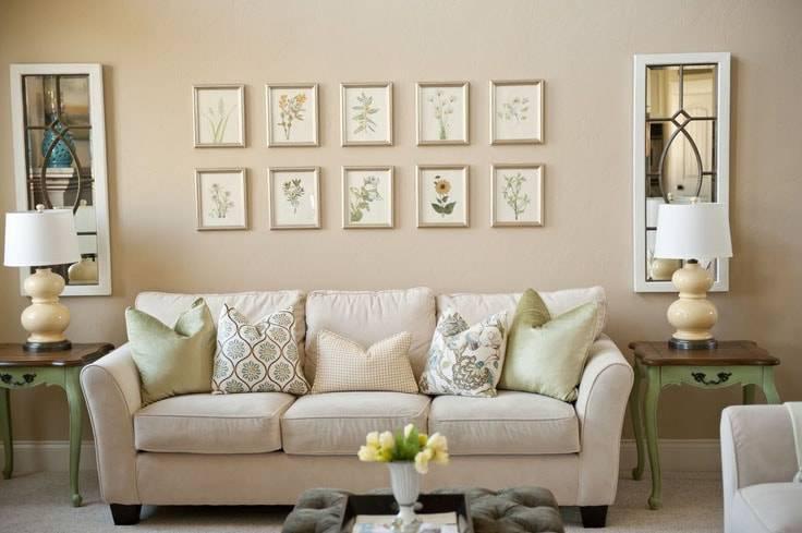 Стены в гостиной: 15 идей для отделки стен в гостиной (50 фото)