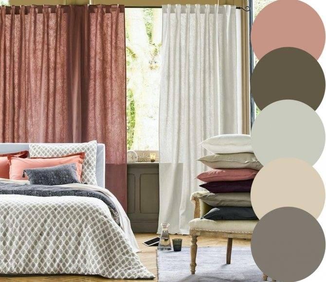 Как подобрать шторы к обоям или к мебели по цвету - 12 фото