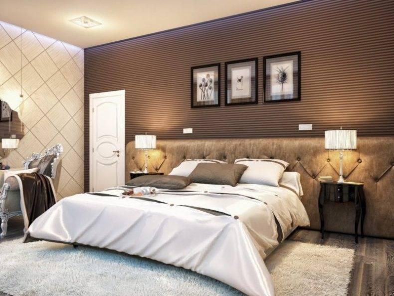 Комбинированные обои в спальню — обзор лучших идей, фото красивого дизайна, примеры сочетания двух цветов