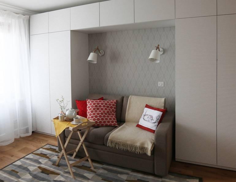 Дизайн однокомнатной квартиры от 30 до 40 кв. м