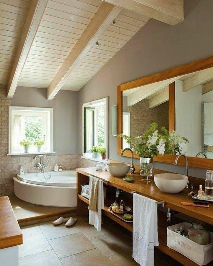 Дизайн интерьера ванной комнаты, совмещенной с туалетом и душевой кабиной: планировка, проект санузла  - 28 фото