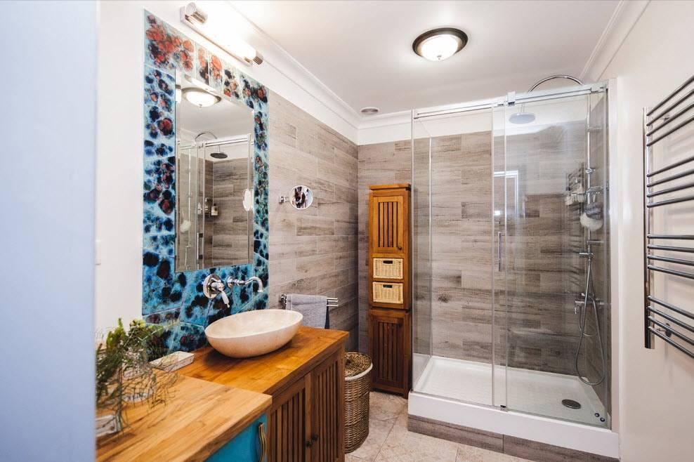 Обои для ванной: какие выбрать и как их правильно поклеить (55 фото) | дизайн и интерьер ванной комнаты
