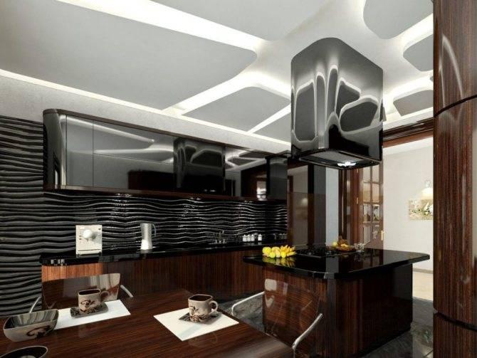 Кухня в стиле хай-тек: 50 реальных фото интерьеров