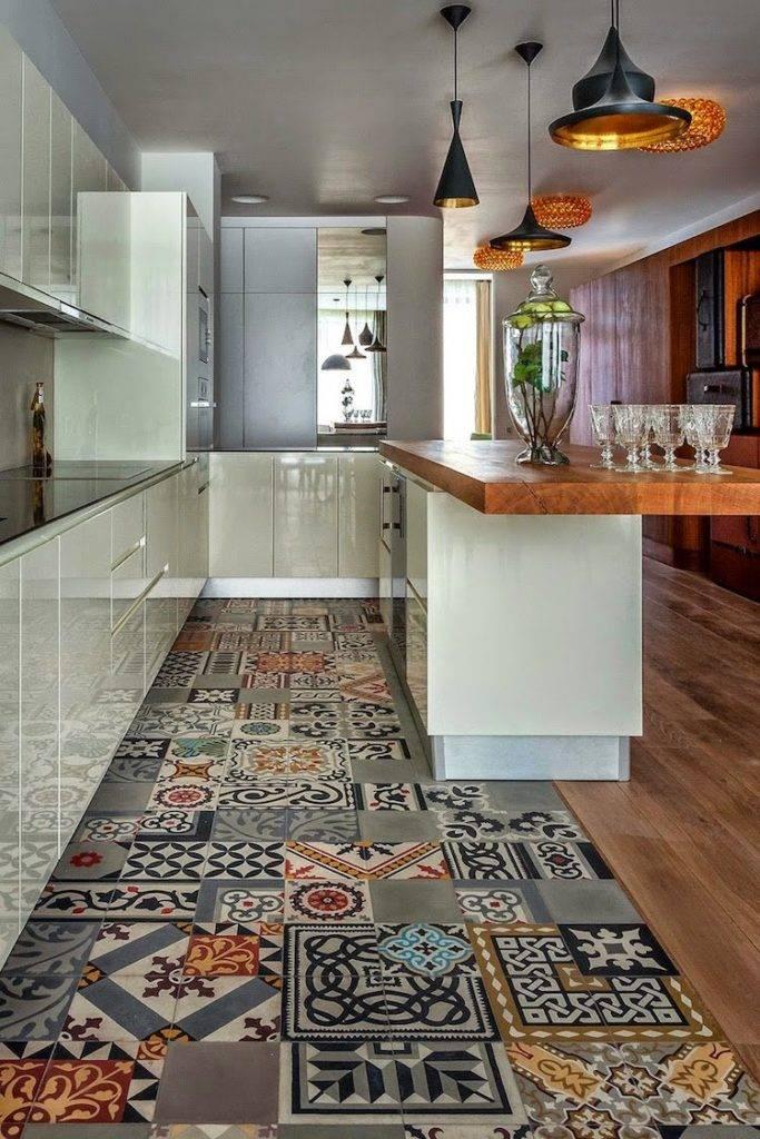 Плитка для кухни на пол: лучшие идеи дизайна и правила выбора (50 фото в интерьере)