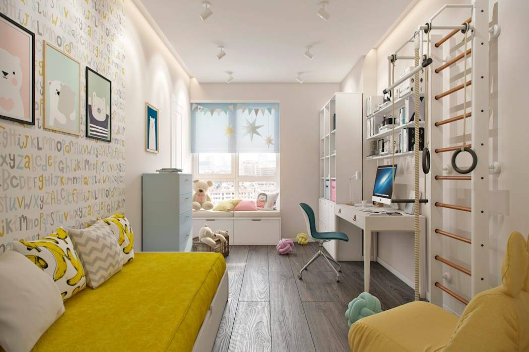 Варианты дизайна детской комнаты на 9 кв. м