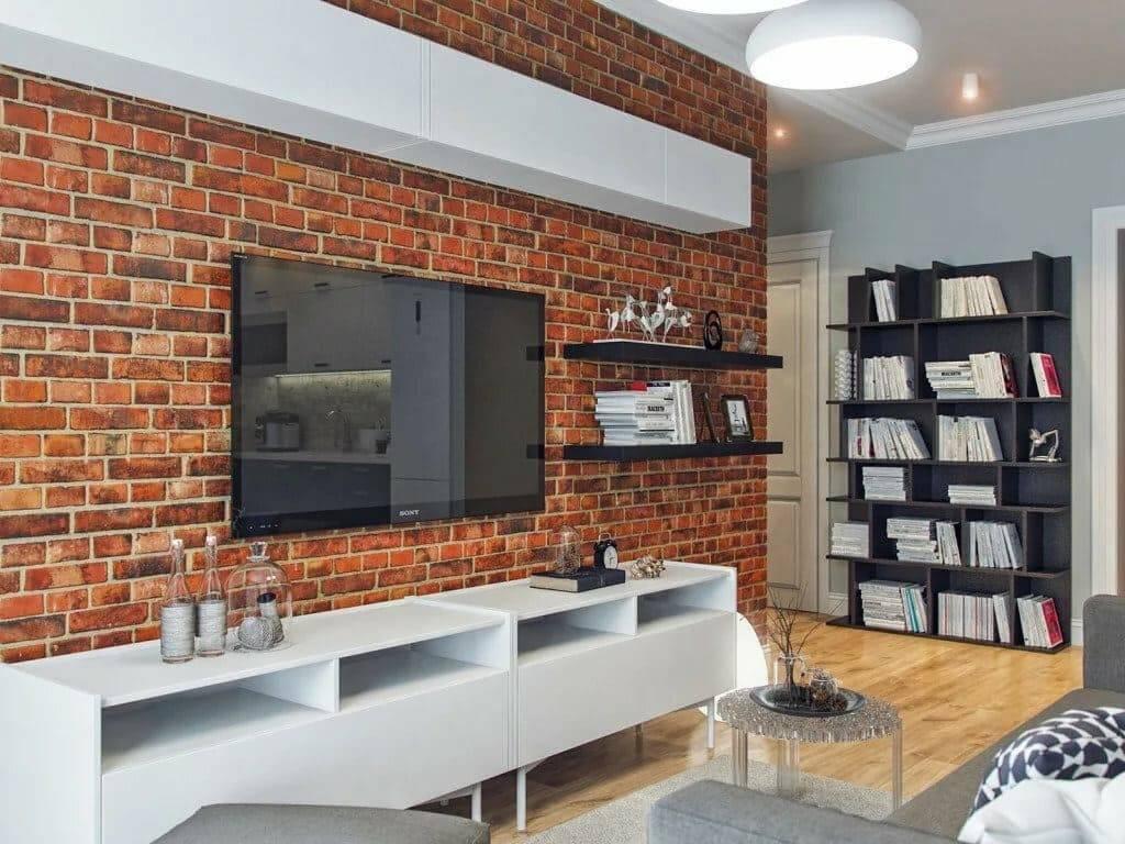 Декоративный кирпич в интерьере квартиры: правила и идеи (30 фото)