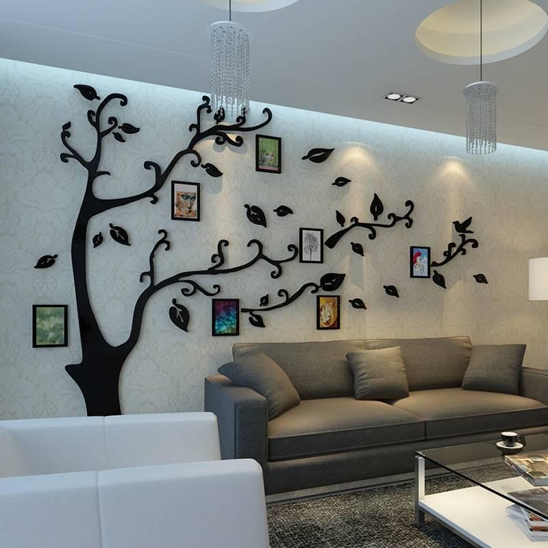 Красота и уют – декор стен в гостиной в современном стиле