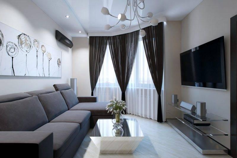 Создаем дизайн гостиной 17 кв