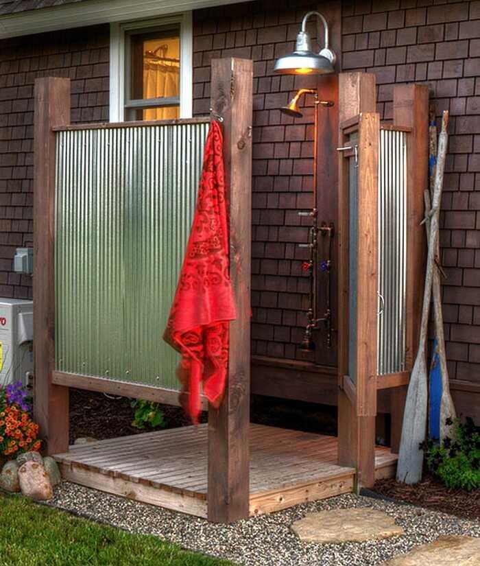 Как самостоятельно сделать летний душ на даче? – пошаговая инструкция с видео и 26 фото для вдохновения