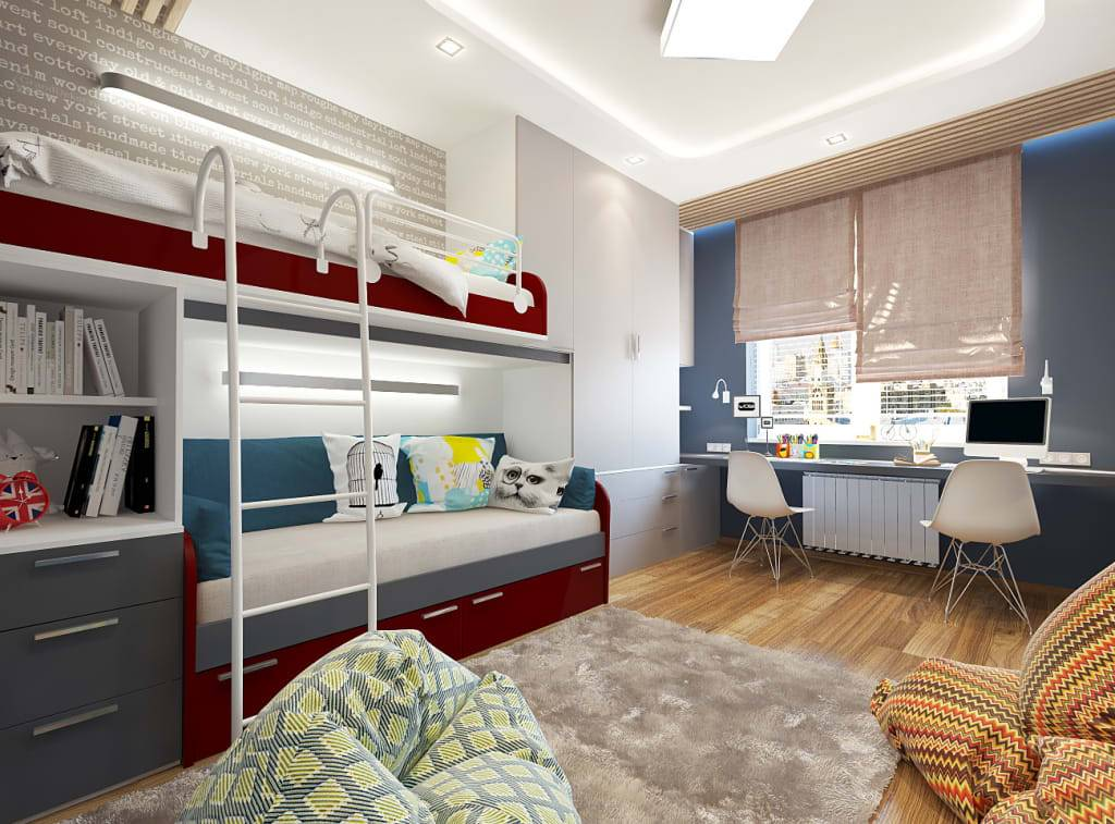 Дизайн маленькой спальни-гостиной (41 фото) — идеи интерьера совмещенной комнаты 12 кв. м