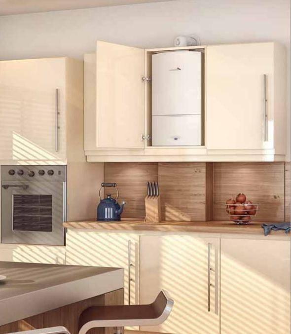 Как спрятать или обыграть газовый котел на кухне, что влияет на выбор подходящего метода монтажа - 24 фото