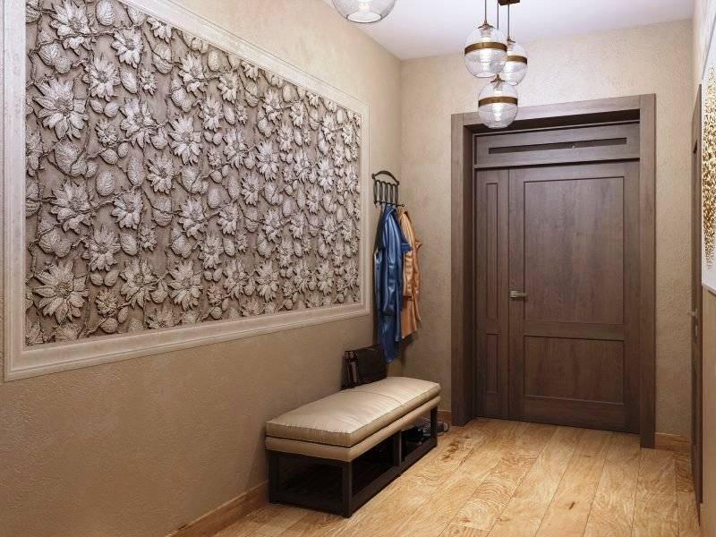 Стены в прихожей — варианты отделки, стильные решения и сочетания дизайна (85 фото + видео)