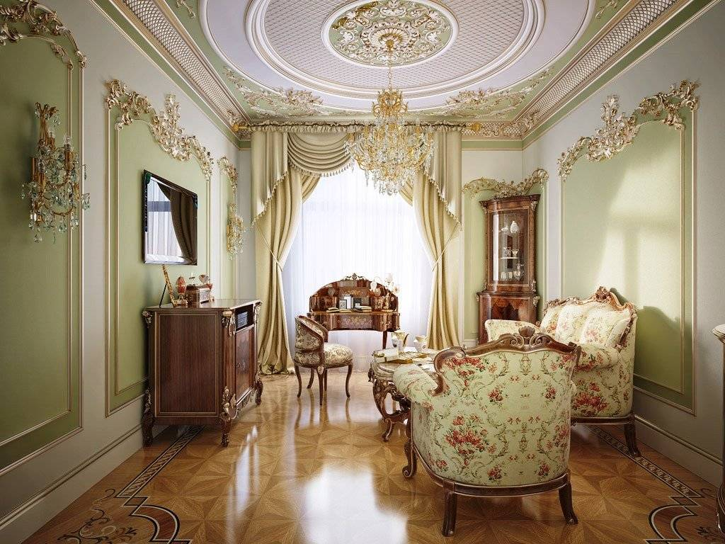 Лепнина в гостиной - 70 фото примеров украшения прошедшего века совершенствованиядизайн гостиной