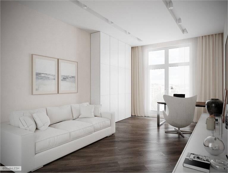 Современный стильный дизайн квартиры в светлых тонах