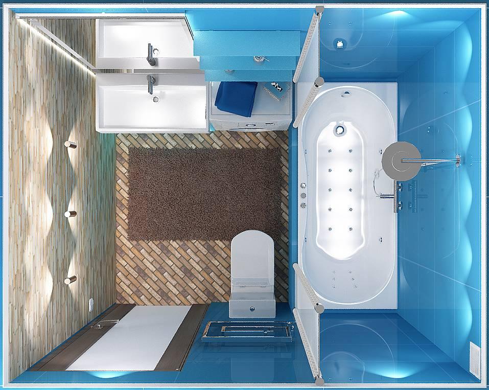 Дизайн ванной 3 кв. м. — лучшие варианты планировки для маленькой ванной (150 фото)
