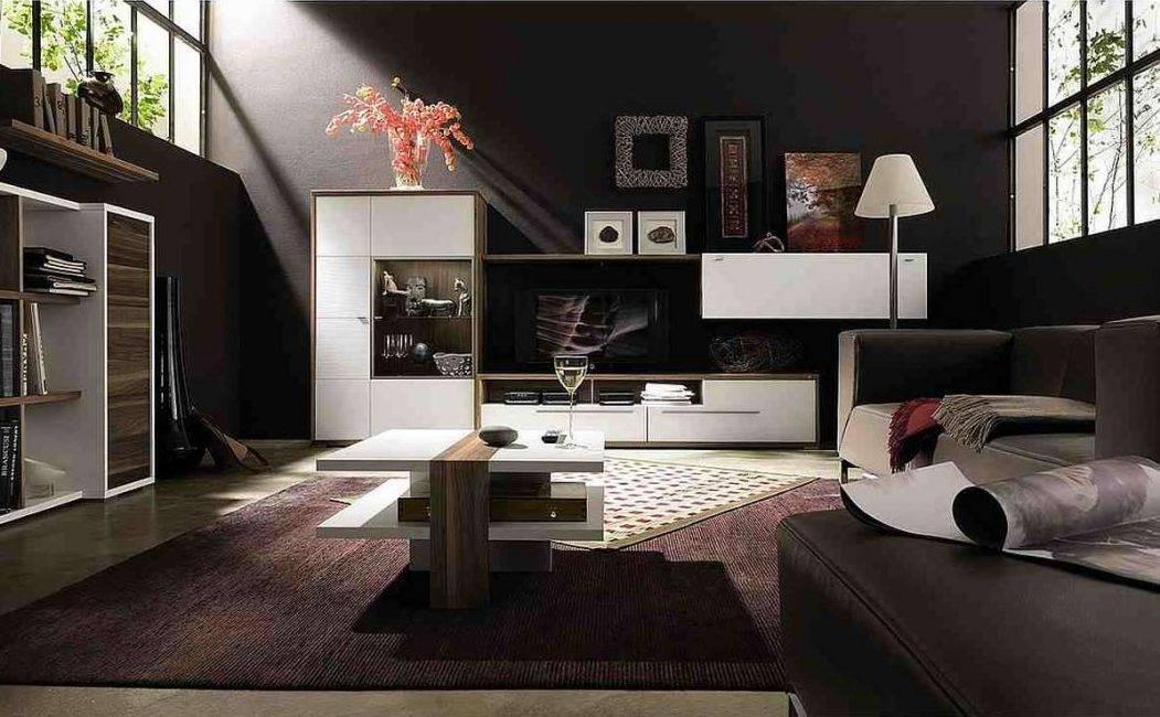 Черная гостиная: топ-70 лучших идей дизайна и интерьера | дизайн и интерьер