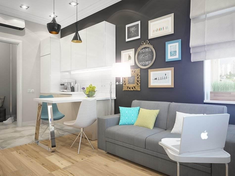 Дизайн однокомнатной квартиры 35 кв. м – фото лучших проектов!
