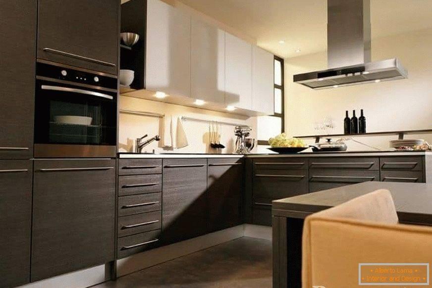 Кухня цвета венге (42 фото): как создать дизайн своими руками, видео-инструкция по сочетанию оттенков в интерьере кухонного помещения, фото, цена