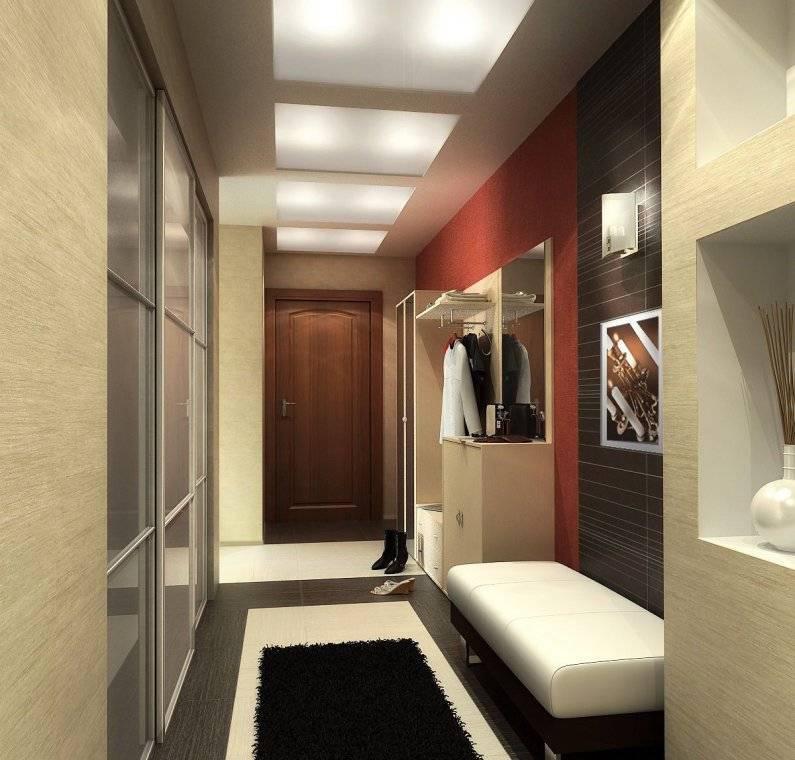 Дизайн коридора с прихожей в квартре. фото идеи маленького и узкого коридора