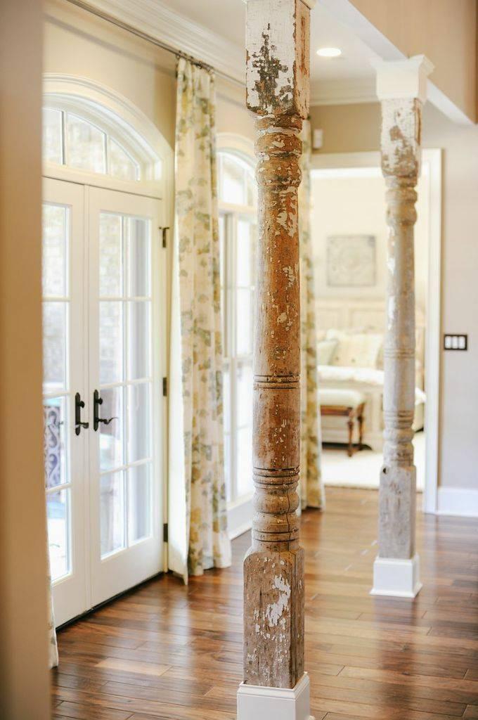Колонны в интерьере — античный и современный стиль (39 фото)