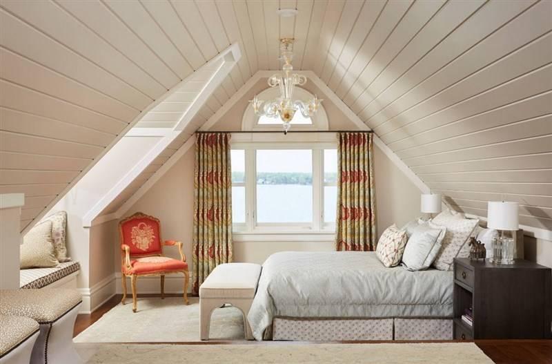 Спальня на мансарде — лучшие варианты дизайна, зонирования и планировки (135 фото)