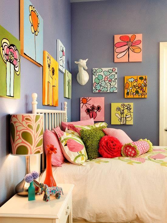 Как украсить комнату подростка? украшение комнаты девочки и мальчика своими руками, рисунки в комнате и украшения из подручных материалов