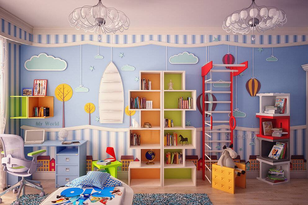 Варианты обустройства интерьера детской комнаты