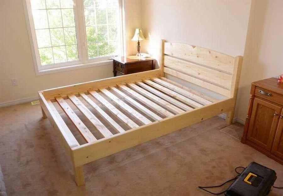Кровать двуспальная своими руками из дерева чертежи